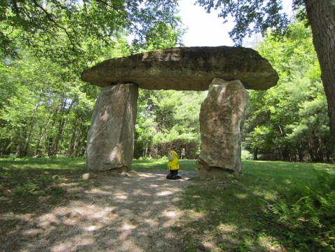 Captain Ahab of Ahab's Adventures under Thor's Gate at Columcille Megalith Park in Pennsylvania 2015