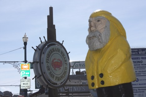 Captain Ahab of Ahab's Adventures at the Fisherman's Wharf in San Francisco California 2011