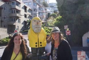 Captain Ahab of Ahab's Adventures at Lombard Street in San Francisco California 2011