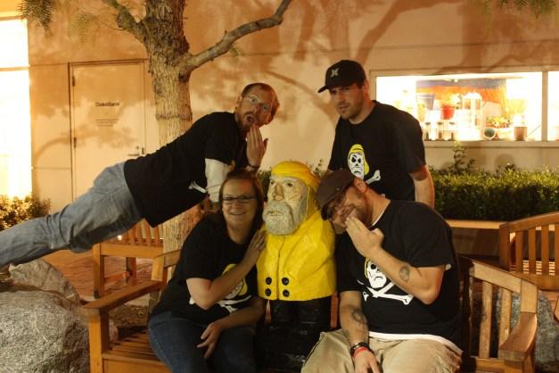 Captain Ahab of Ahab's Adventures visiting fans in Rancho Cucamonga California 2011