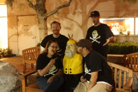 Captain Ahab of Ahab's Adventures visiting fans in Rancho Cucamonga California 2011