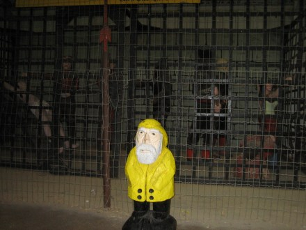 "Captain Ahab of Ahab's Adventures visiting ""The Thing"" in Arizona on his Cross Country Road Trip of 2006"