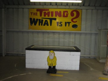 """Captain Ahab of Ahab's Adventures visiting """"The Thing"""" in Arizona on his Cross Country Road Trip of 2006"""