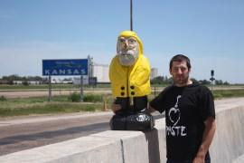 Captain Ahab of Ahab's Adventures entering Kansas 2011