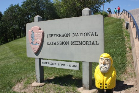 Captain Ahab of Ahab's Adventures at the Jefferson National Expansion Memorial Gateway Arch in St. Louis Missouri 2011