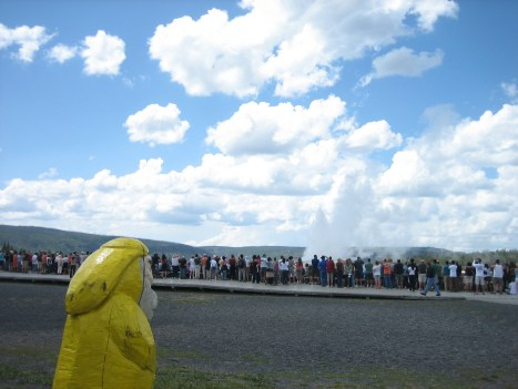Captain Ahab of Ahab's Adventures at Old Faithful in Yellowstone National Park in Wyoming 2009