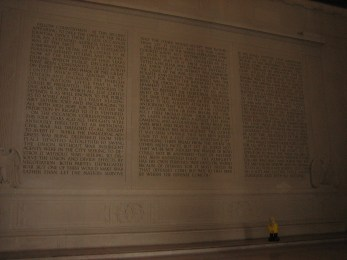 Captain Ahab of Ahab's Adventures at the Lincoln Memorial in Washington D.C. 2011