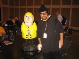 Captain Ahab of Ahab's Adventures with Angry Bob at the New York Comic Con 2011
