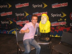 Captain Ahab of Ahab's Adventures with Frankie Muniz at the New York Comic Con 2011