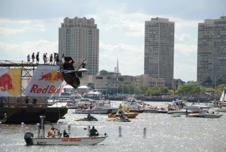 Captain Ahab of Ahab's Adventures participating in the Red Bull Flugtag 2010