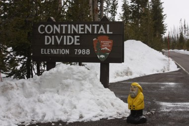 Captain Ahab of Ahab's Adventures at the Continental Divide near Yellowstone National Park 2011