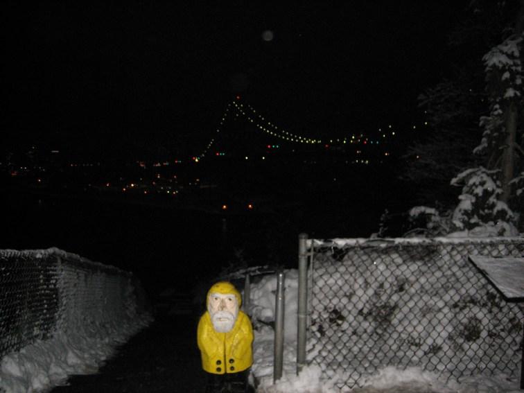 Captain Ahab of Ahab's Adventures at Lion's Gate Bridge Vancouver British Columbia Canada 2006