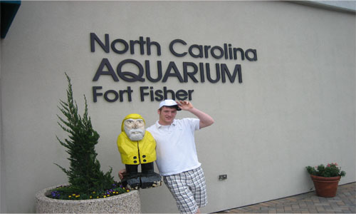 Captain Ahab of Ahab's Adventures at the North Carolina Aquarium Fort Fisher 2008