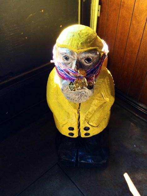 Captain Ahab of Ahab's Adventures with Team Zissou's Awards at the Boston Urban Iditarod 2015