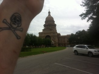 Captain Ahab of Ahab's Adventures at the Capitol Building in Austin Texas 2013