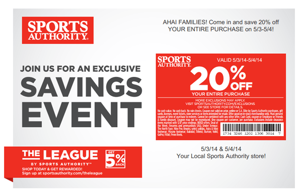 sports authority coupon may 3