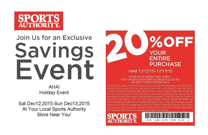 AHAI Holiday Coupon Event