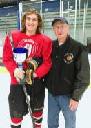 Terry J. Stasica MVP Award Recipient, Sam Weiss - Glenbard High School, with Terry's brother, Charlie Stasica
