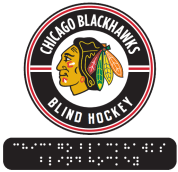 Blind hockey logo