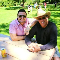 Oliver with his father-in-law, Tom