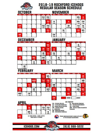 2018-19 Rockford IceHogs Schedule_001