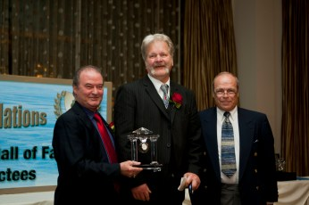 2010 Illinois Hockey Hall of Fame (L to R): Norm Spiegel, George Hayes, Judge Bob Stevenson - Photos courtesy of Photos by Sully