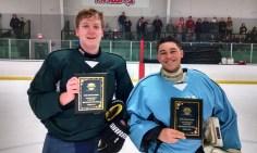 JV All Stars MVPs: Brad Eggert (Green Team) - Notre Dame & Enzo Senese (Blue Team) - Fox Valley Hawks