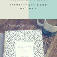 Hairstylist Appointment Book Options