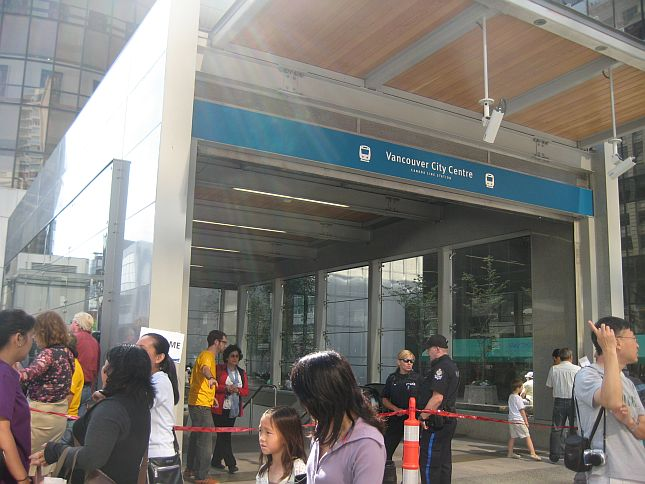 8 Vancouver Centre Opening of new Canada Line