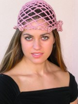Beanie with Removeable Flower - Organic Cotton and Silk