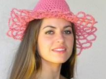 Lace Cowboy Hat - Organic Cotton