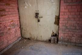 Closed door of student union