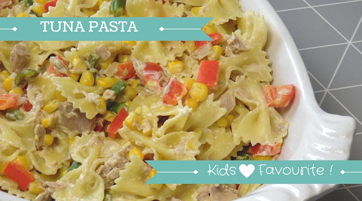 Child friendly tuna pasta recipe . Super healthy and kids love it!