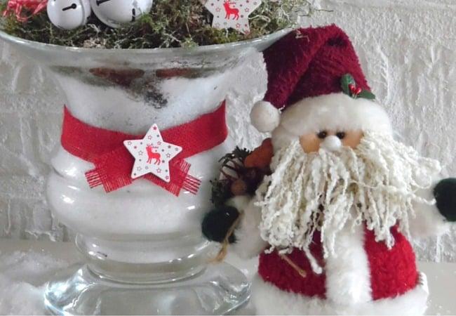 Christmas Arrangement In Vase