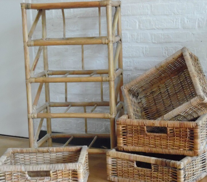 Old Wicker Drawers