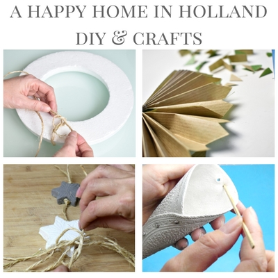 DIY CRAFT IDEAS AND TUTORIALS - At ahappyhomeinholland.com you will find dozens of beautiful creative craft ideas and projects to suit every level.