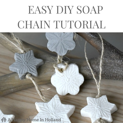 HANDMADE SOAP - These beautiful rustic looking soap chains don't need any expensive ingredients or fancy equipment you can make them at home using ordinary soap and a cheese grater. Learn how to make them in a simple step by step tutorial over on the A Happy Home In Holland website.