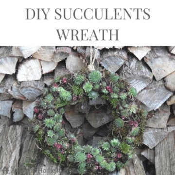 DIY SUCCULENTS WREATH - Learn how to make a beautiful wreath using real succulent plants and moss in an easy step by step tutorial over on A Happy Home In Holland.