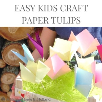 EASY KIDS SPRING CRAFT IDEA - these fun and pretty little paper tulips are super easy for your children to make.