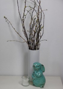 Branches From A Cherry Tree Displayed In A Vase For Spring