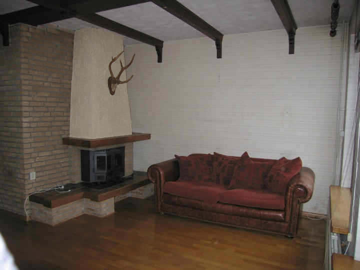 Old Fireplace Before Renovations
