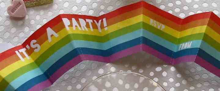 Rainbow Party Invites And Sugary Treats