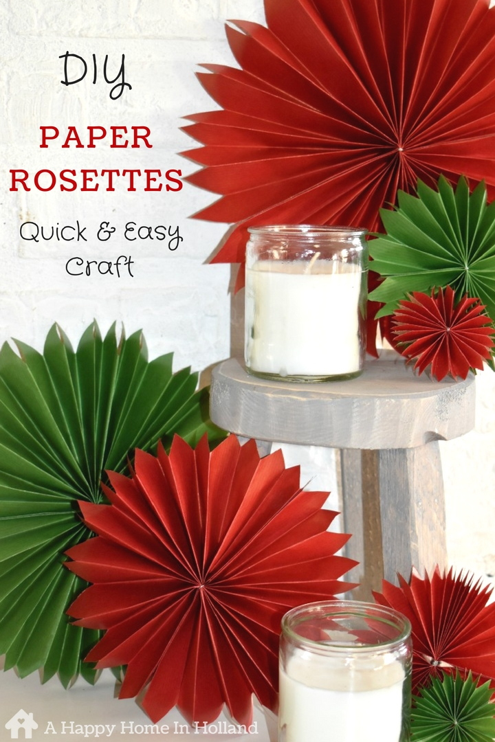 DIY Paper Rosettes - How To Make Simple Paper Fans