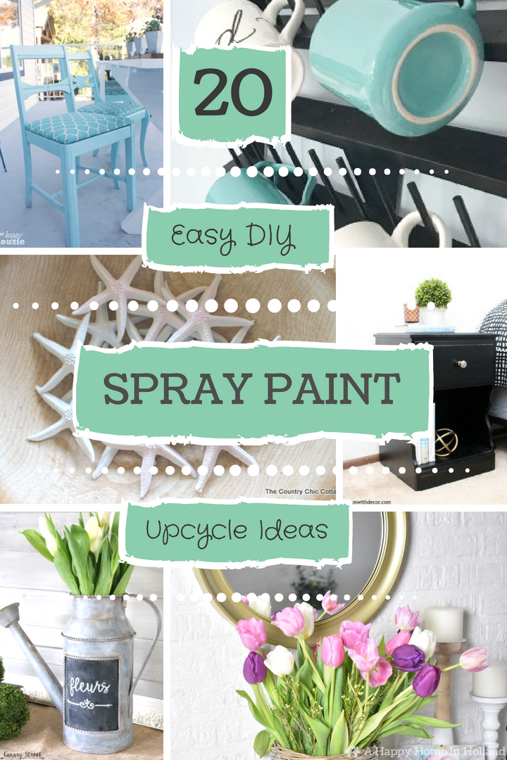 20 beautiful diy spray paint furniture home decor upcyling ideas - Diy home interior painting tips ...