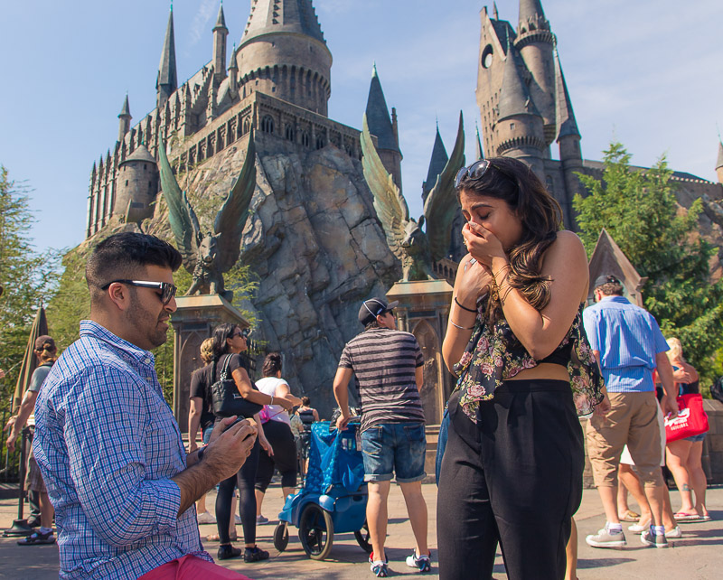 Orlando Surprise Proposal At The Wizarding World Of Harry
