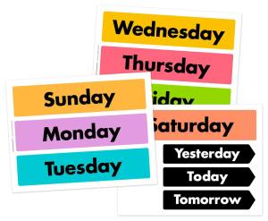 Days of the week cut-out