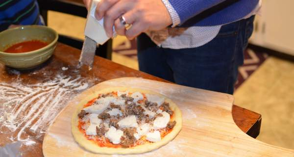Making homemade pizza easy