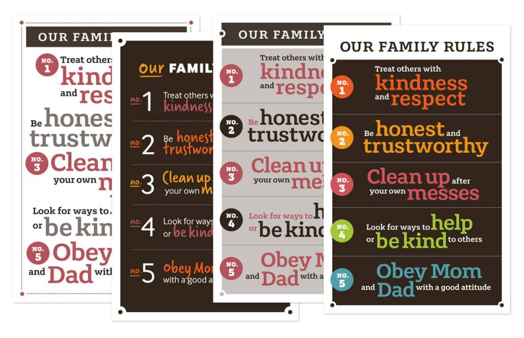 Family Rules Posters