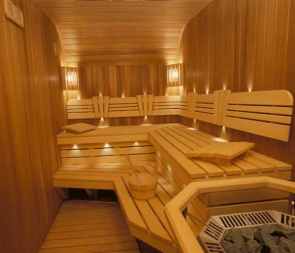 Отделка бани вагонкой, виды древесины