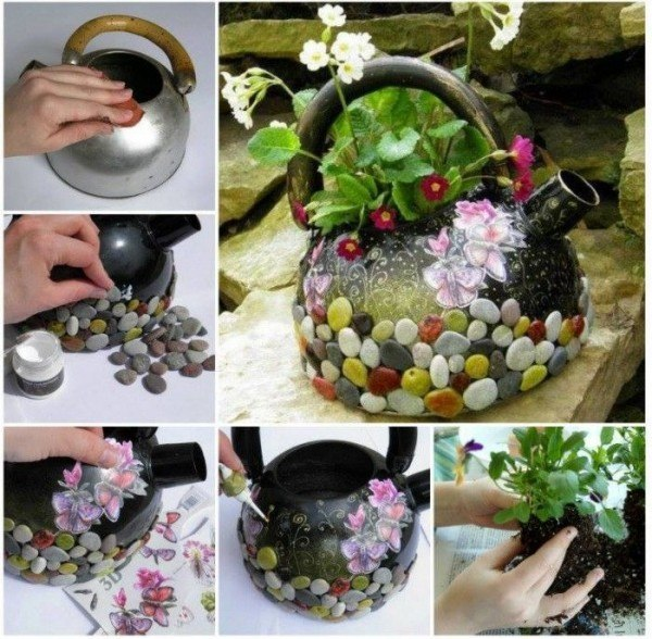 Hanging Kettle Planter